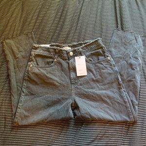 Forever 21 Black Mom Jeans Cropped